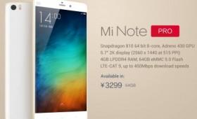 Новости о Xiaomi Mi Note Pro
